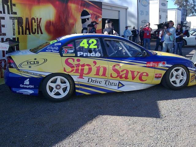 V8 Supercars Shane Price 2008 Poll Position award